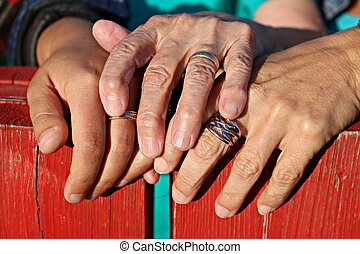hands of family