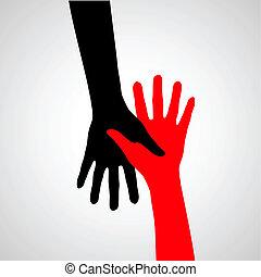 Hands of friendship.