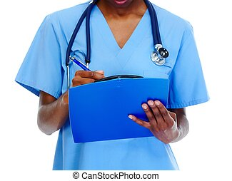Hands of medical doctor woman