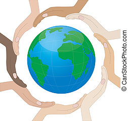 hands of skin circumplanetary earth