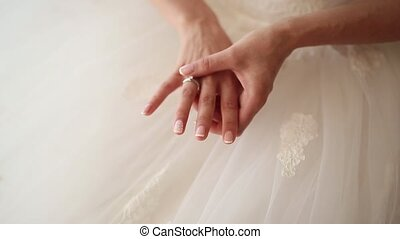 Hands of the bride. Wedding in Montenegro