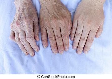 Hands of three generations