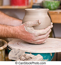 hands of working man