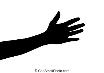 Hands on a white background