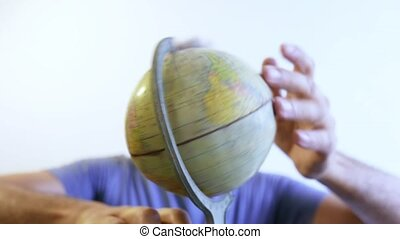 hands on Earth Globe