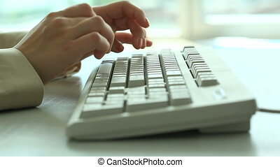Hands on keyboard - Video of hands typing on computer ...