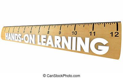 Hands-On Learning Ruler Education Training 3d Illustration