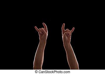 Hands on rock concert