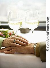 hands., par, røre