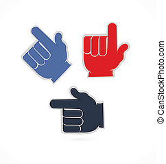 Hands pointer app logo - Hands colorful application pointer...