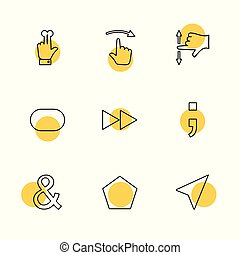 hands , pointer , arrows , directions , eps icons set vector