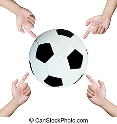 Hands pointing soccer