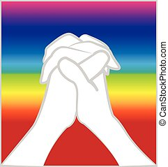 Hands praying vector image