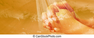 Hands praying - facebook timeline