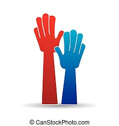 hands raised. hands up sign icon vector illustration eps 10