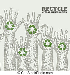 hands recycle