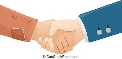 Hands Rich Poor Handshake