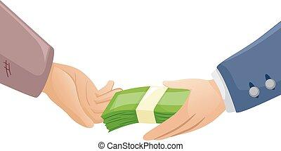 Hands Rich Poor Money