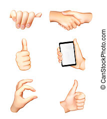 Hands set, vector