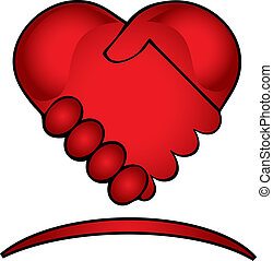 Hands shake creative logo - Hands shake creative design