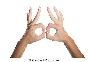 hands-shaped, 隔離された, ガラス