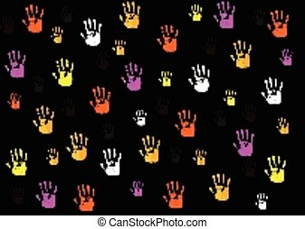 hands shapes background