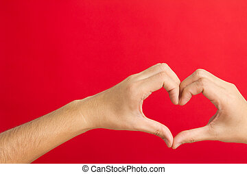 Hands shaping in a heart - Hands in the shape of heart...