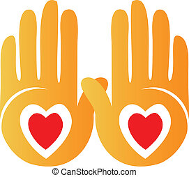 Hands showing hearts logo