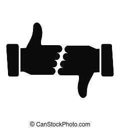 human hands showing thumbs up thumbs down vector set vector rh canstockphoto com thumbs up thumbs down clipart free Thumbs Up and Down