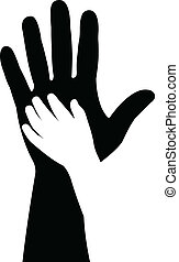 hands silhouette vector