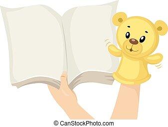 Hands Sock Puppet Story Book