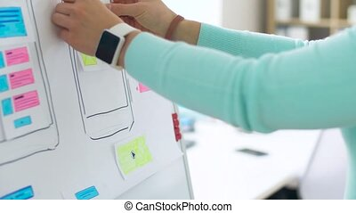 hands sticking templates for smartphone design - technology,...