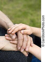 hands - child with grandma