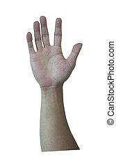 Hands surrender