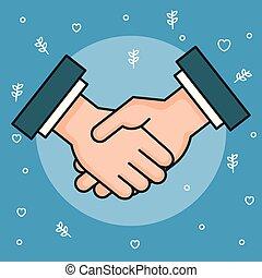 hands symbol peace hands man handshaking