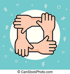 hands symbol peace unity community