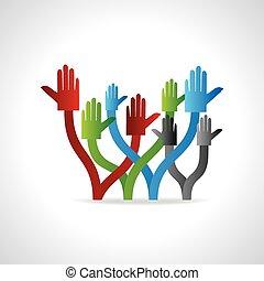 hands team work concept
