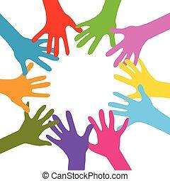 hands together - hands  together