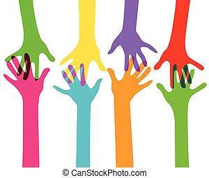 hands together, no transparency effect