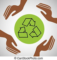 hands together recycle environment concept