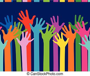 hands together seamless pattern