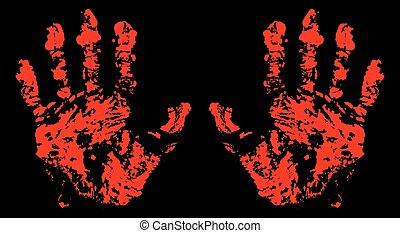 Hands Trace Bloody
