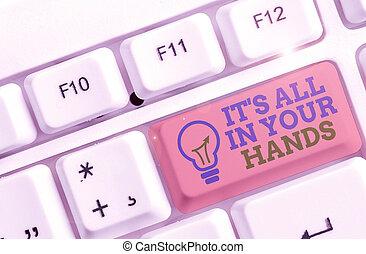 hands., tuo, nostro, foto, segno, redine, noi, esso, tutto,...