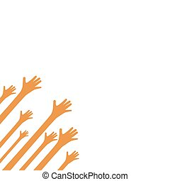 Hands up background ilustration vector template