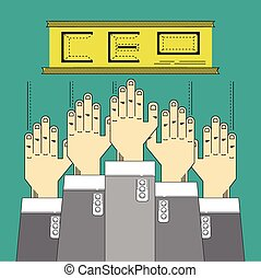 hands up catch business position