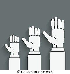 hands up concept - vector illustration. eps 10