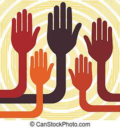Hands up vector.  - Hands up design vector.