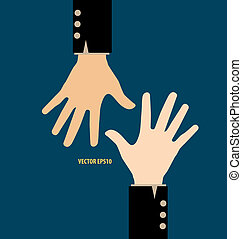 Hands. Vector illustration.