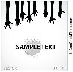 hands vector illustration sign black color