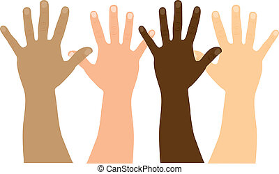 hands vector - open hands isolated over white background....